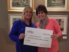 ACS fundraiser check presentation