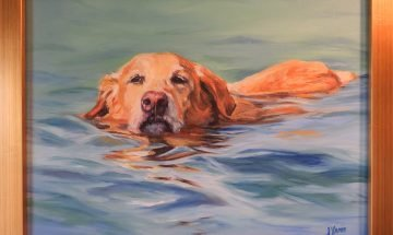 Out for a Swim - Oil