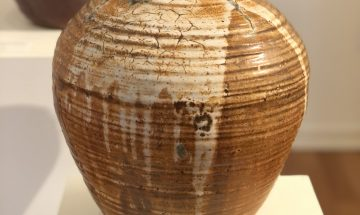 Ernest Satchell 2, Vase With Tan And White Glaze